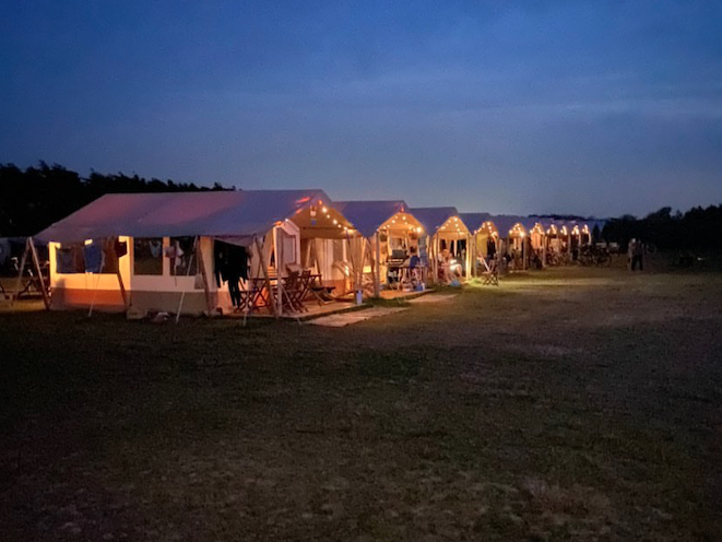 Pop-up camping Ameland